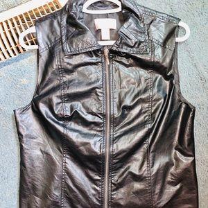 Chico's leather vest